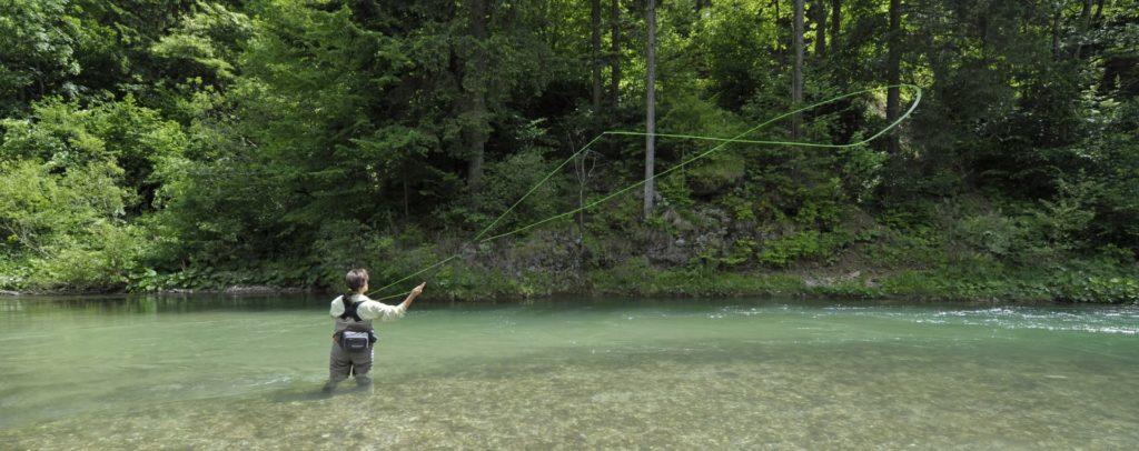 Fliegenfischen in Slowenien an der Savinja